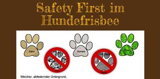 Infografik zu Sicherheit im Hundefrisbee