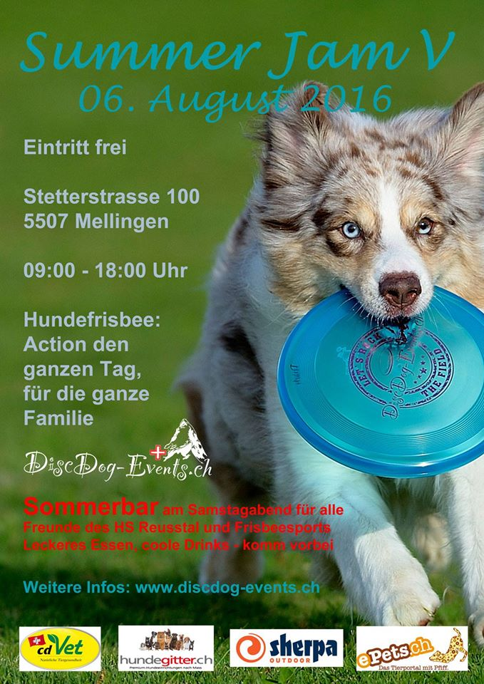 Flyer Hundefrisbee-Turnier Summer Jam