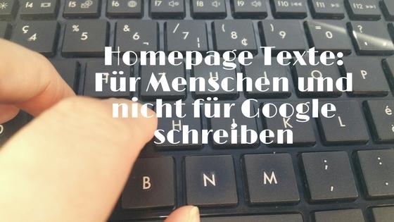 Texte für die Homepage schreiben